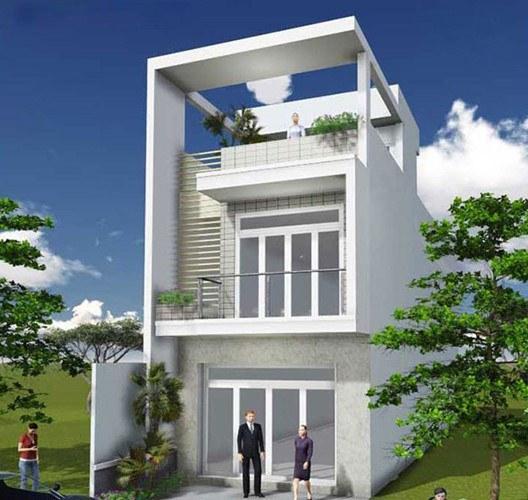Mẫu nhà đẹp 2 tầng 1 tum