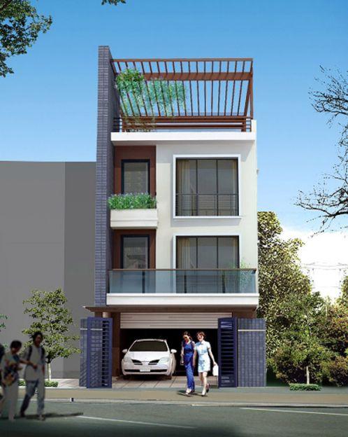 Thiết kế kiến trúc nhà phố 2 tầng đẹp