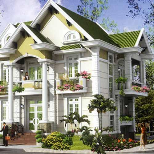 Những mẫu biệt thự đẹp như thế này là ước mơ, khao khát của nhiều gia chủ